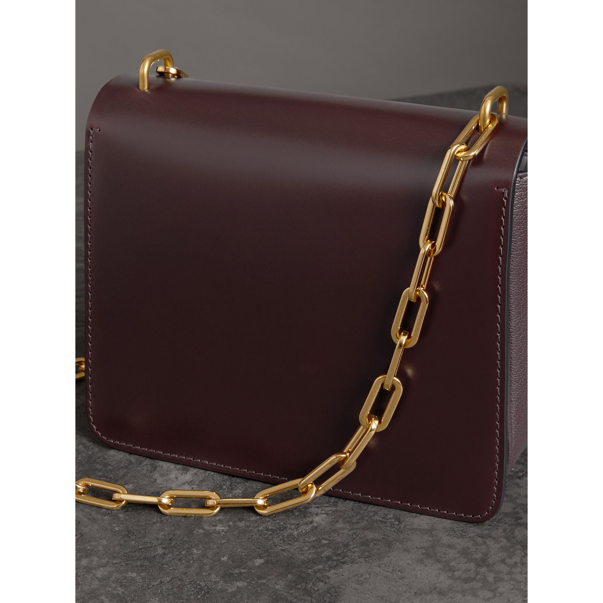 The Small Leather D-ring Bag in Deep Claret - Women | Burberry - gallery image 2
