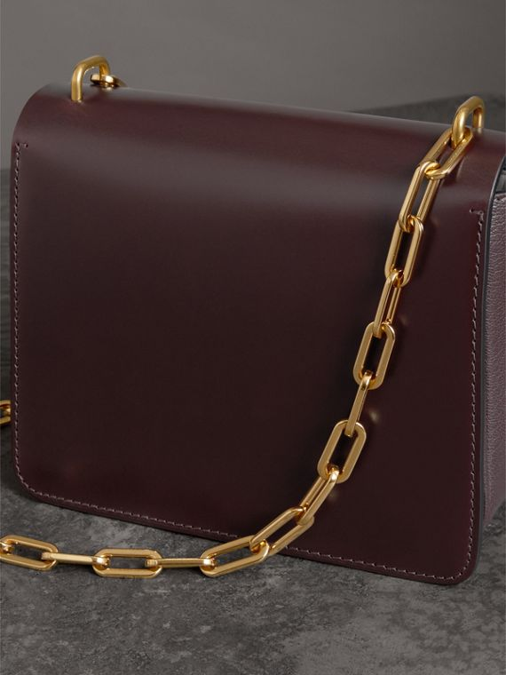 The Small Leather D-ring Bag in Deep Claret - Women | Burberry - cell image 2