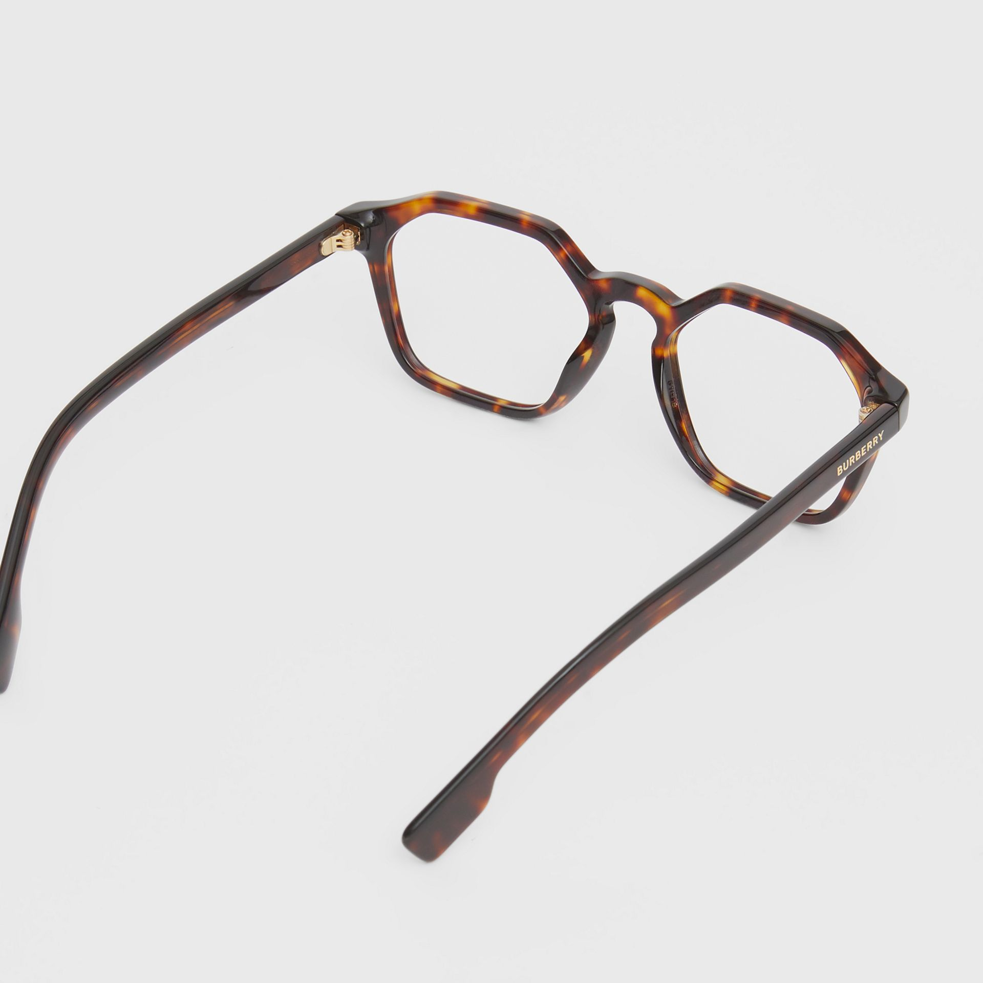 Geometric Optical Frames in Tortoiseshell - Women | Burberry United Kingdom - gallery image 3