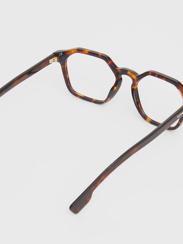 Geometric Optical Frames in Tortoiseshell - Women | Burberry Australia - cell image 3