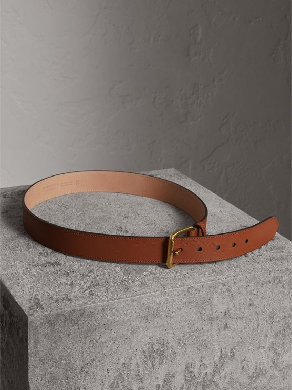 Trench Leather Belt in Tan - Men | Burberry - cell image 3
