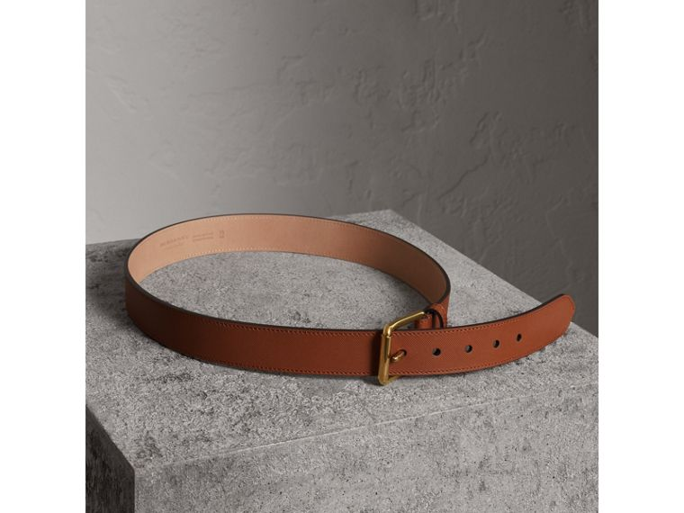 Trench Leather Belt in Tan - Men | Burberry United Kingdom - cell image 2