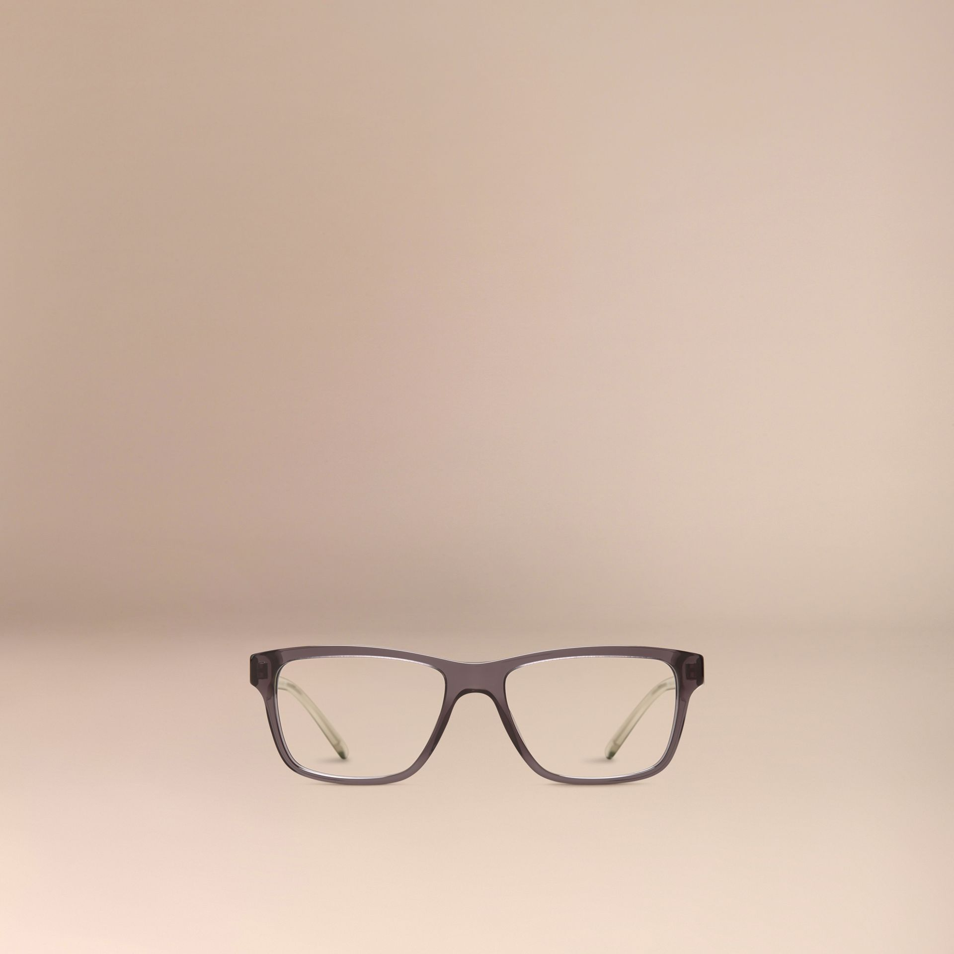 Dark grey Check Detail Rectangular Optical Frames Dark Grey - gallery image 5