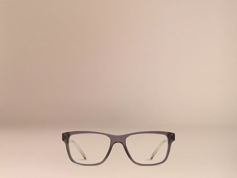 Dark grey Check Detail Rectangular Optical Frames Dark Grey - cell image 4