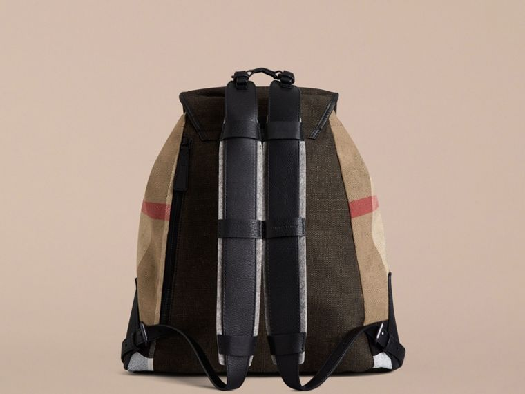 Camel Canvas Check Backpack - cell image 1