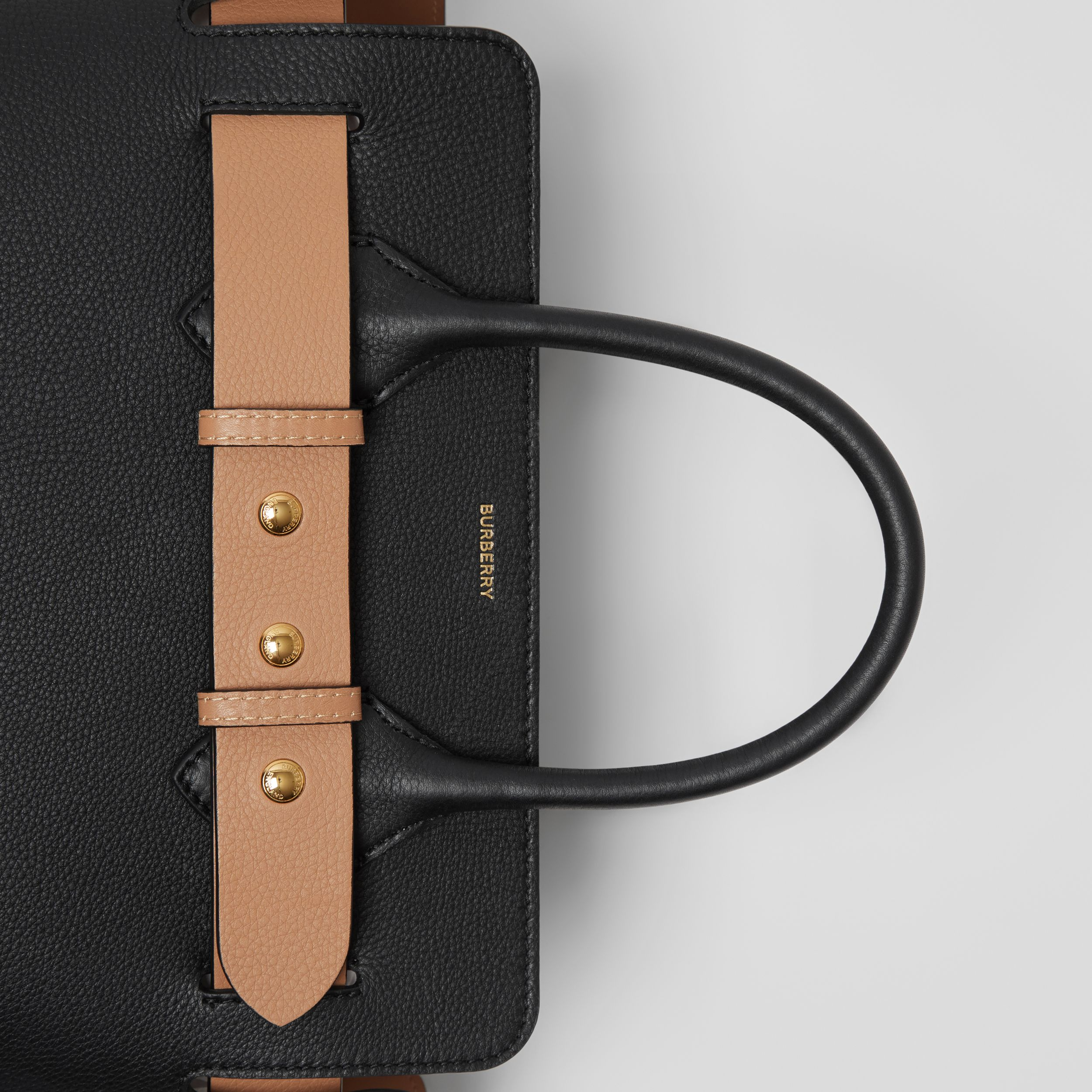 The Small Leather Triple Stud Belt Bag in Black - Women | Burberry - 2