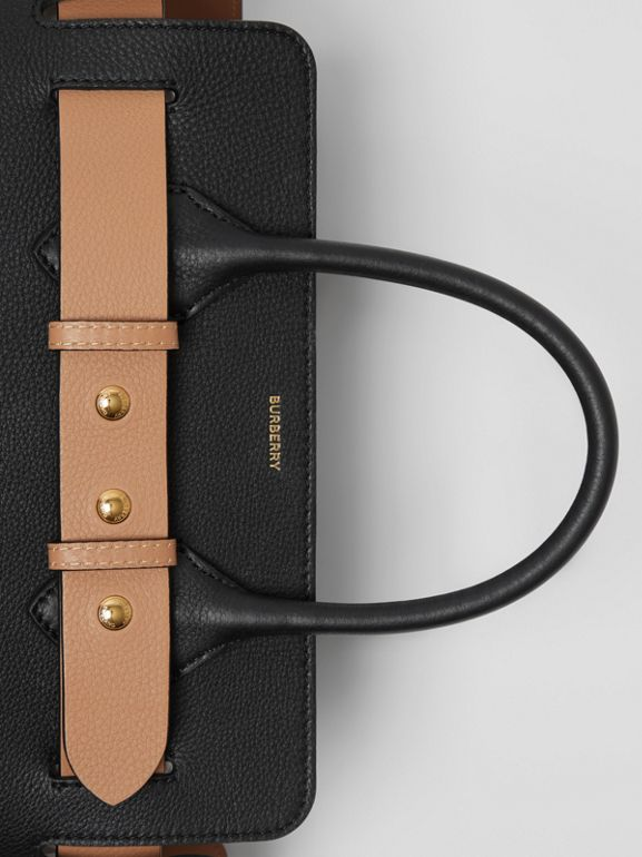 The Small Leather Triple Stud Belt Bag in Black - Women | Burberry Hong Kong - cell image 1