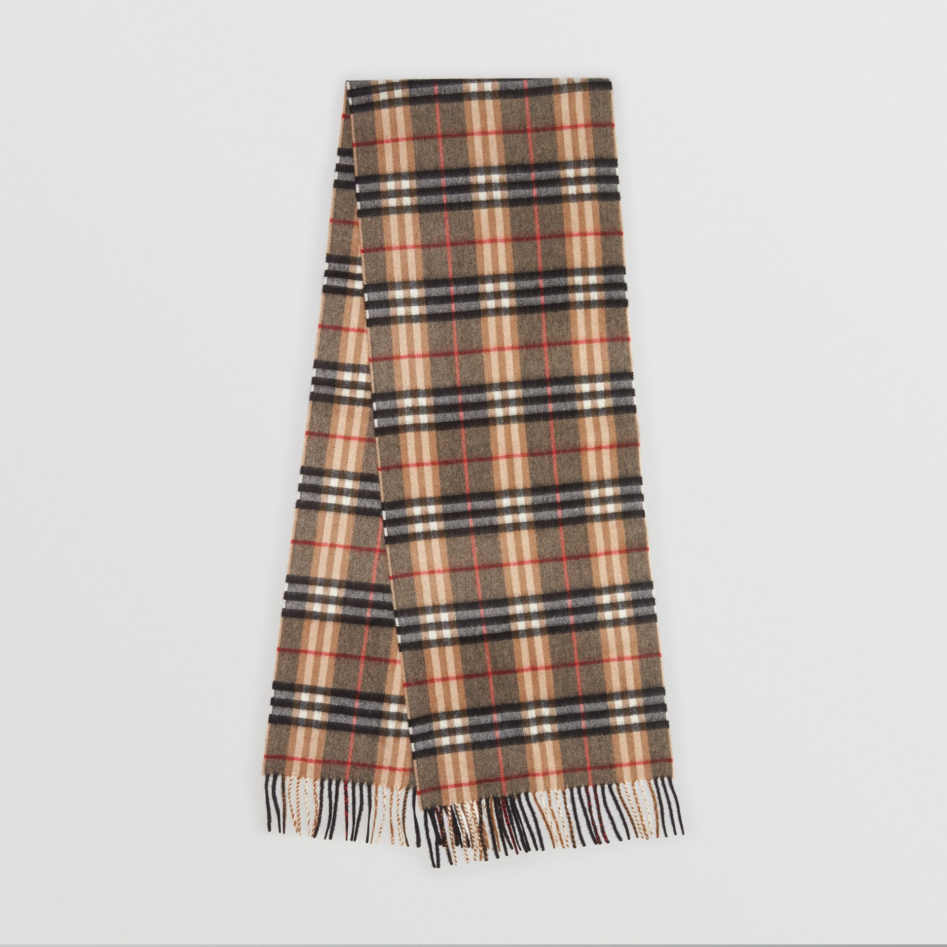 Check Cashmere Scarf in Camel | Burberry United States - gallery image 0