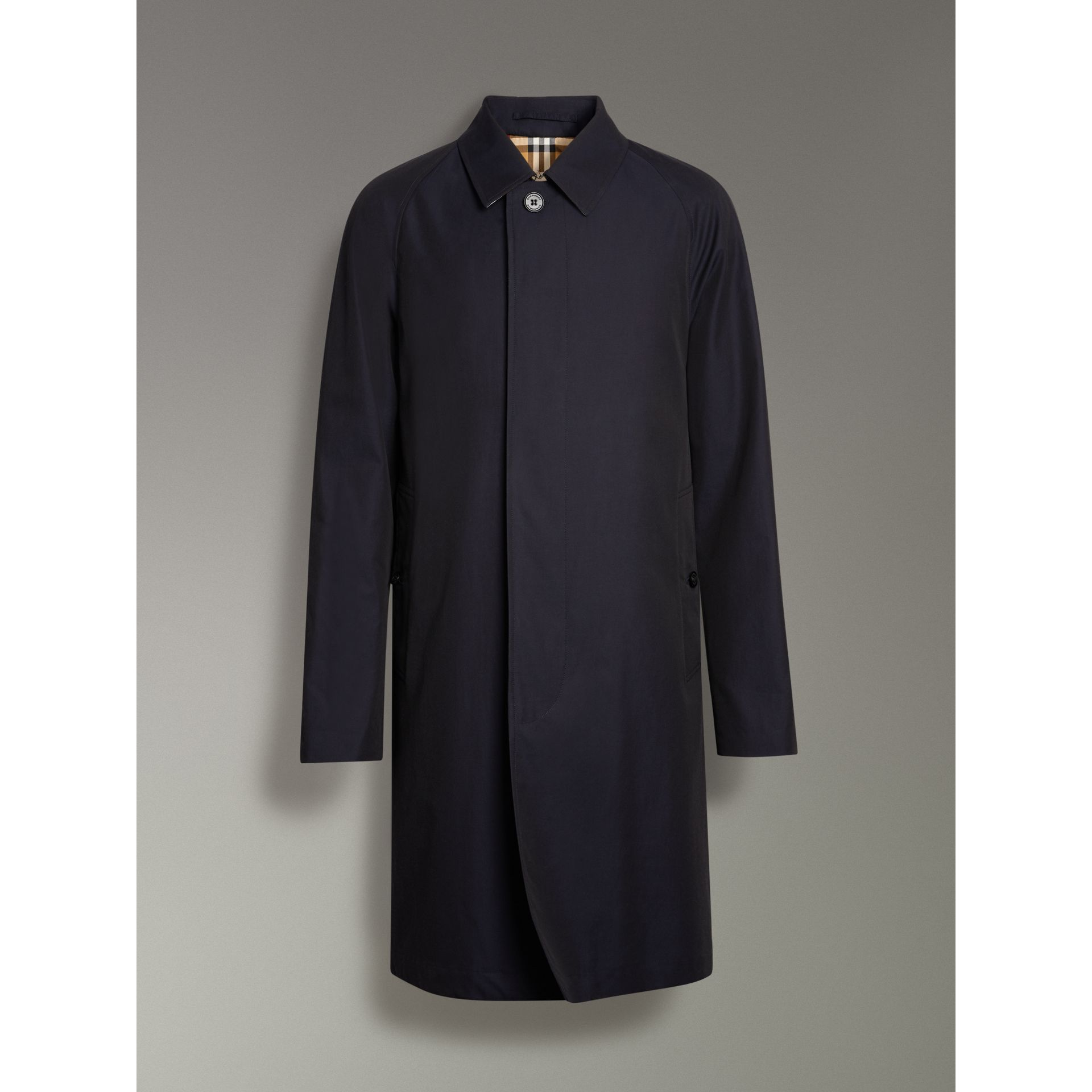 The Camden Car Coat in Blue Carbon - Men | Burberry - gallery image 3