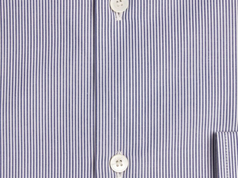 Modern Fit Striped Cotton Poplin Shirt Dark Empire Blue - cell image 1
