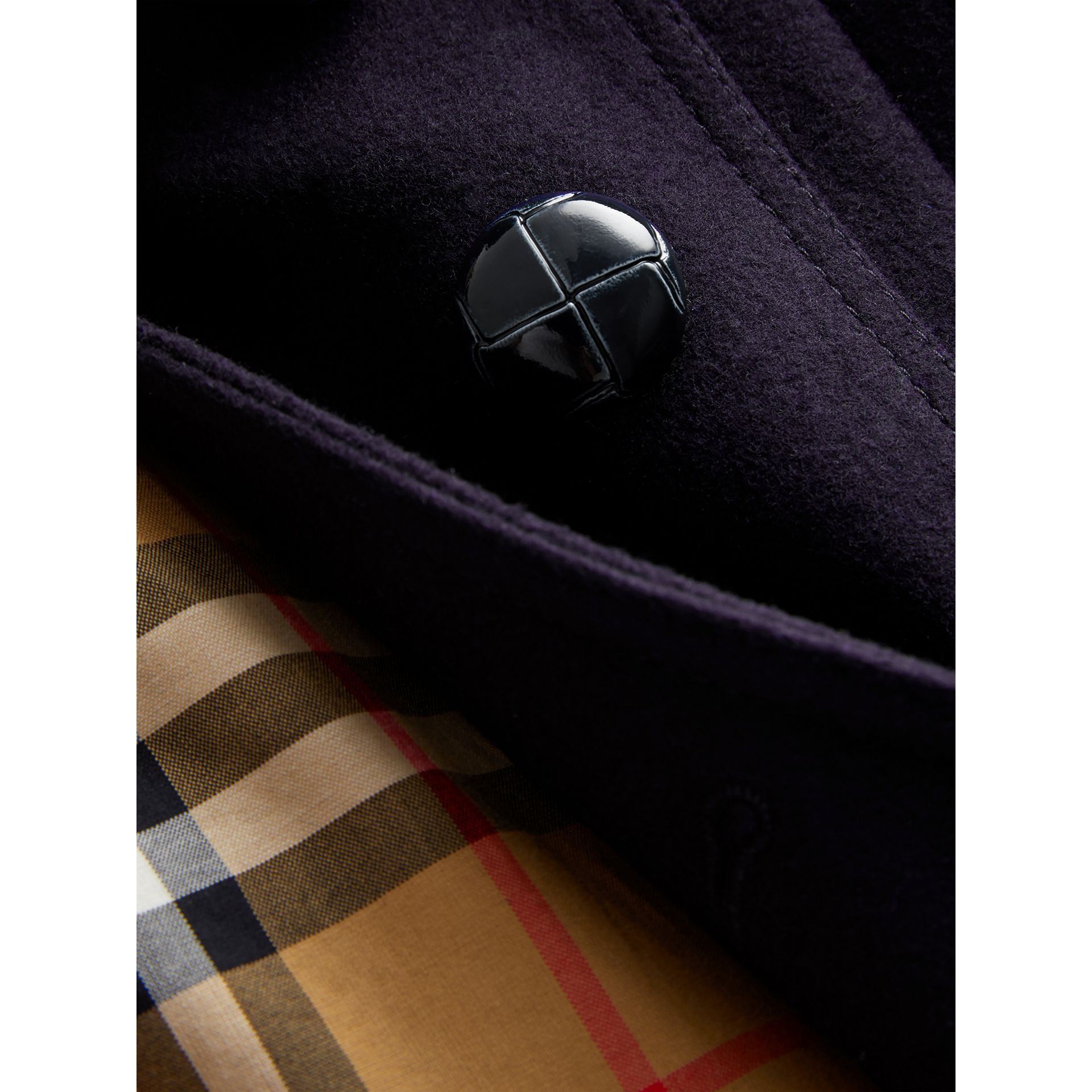 Wool Pea Coat in Navy | Burberry Australia - gallery image 1