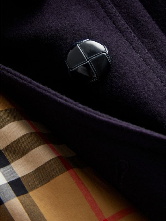 Wool Pea Coat in Navy - Children | Burberry United Kingdom - cell image 1