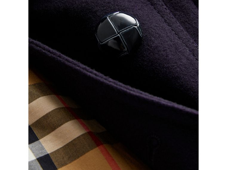 Wool Pea Coat in Navy | Burberry Australia - cell image 1
