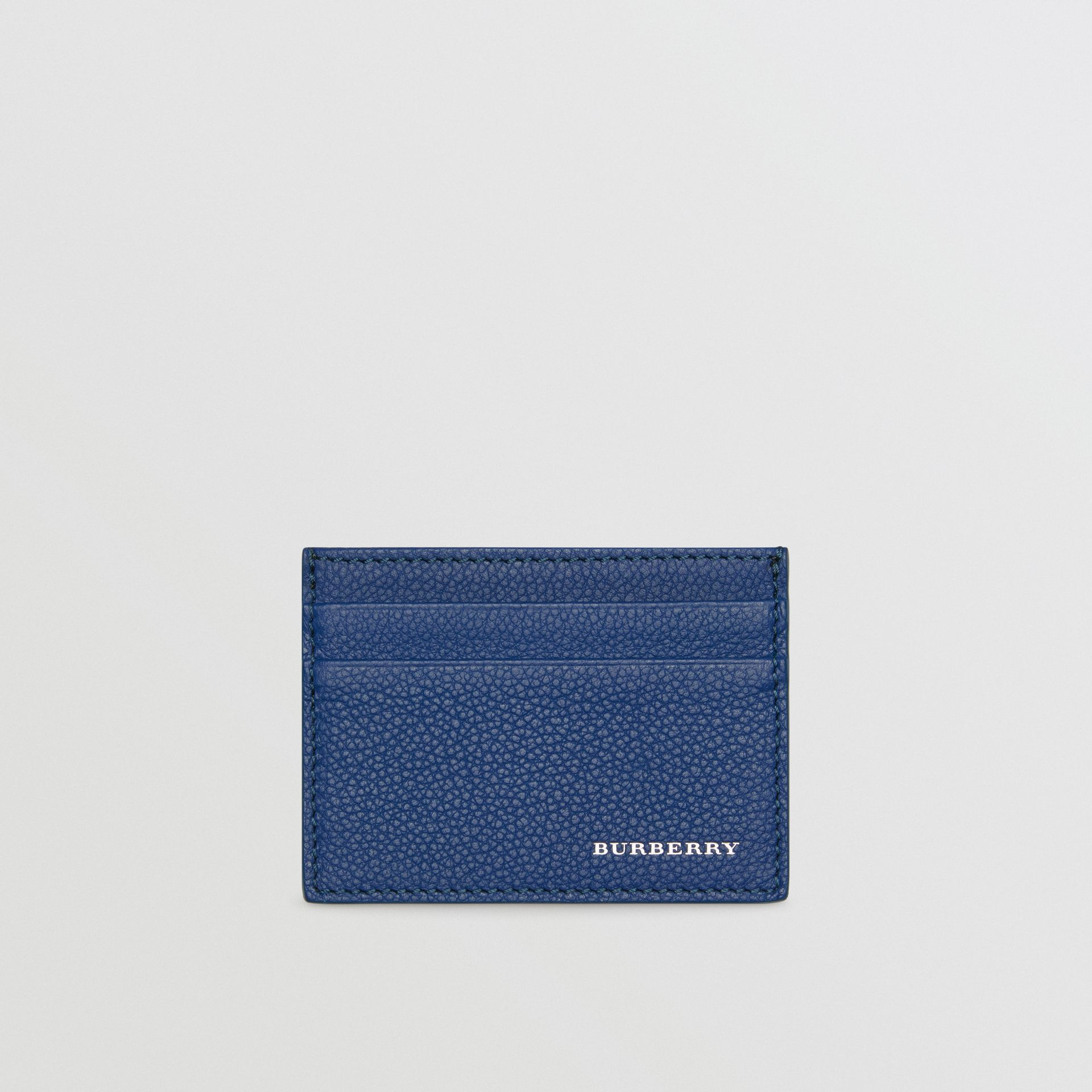 Grainy Leather Card Case in Bright Ultramarine | Burberry - gallery image 0