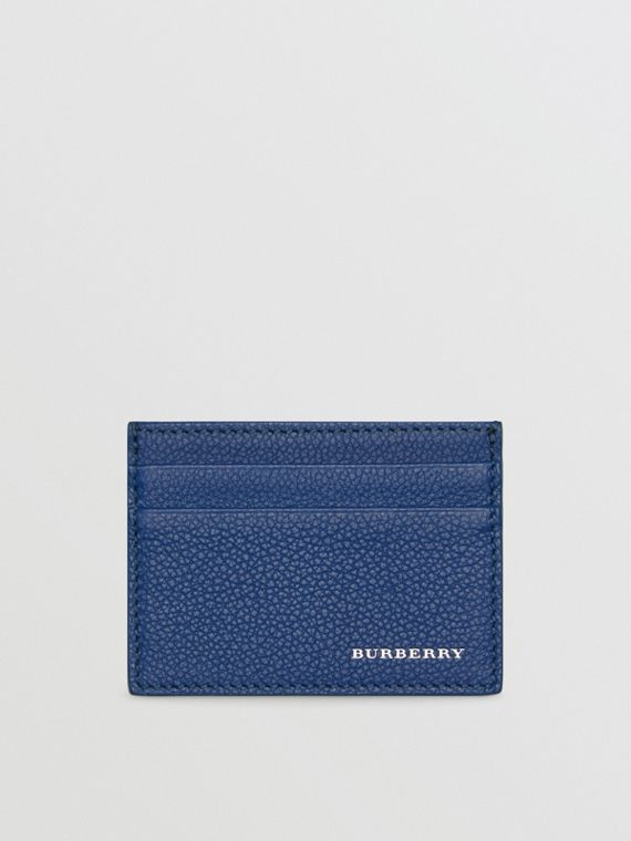 Grainy Leather Card Case in Bright Ultramarine