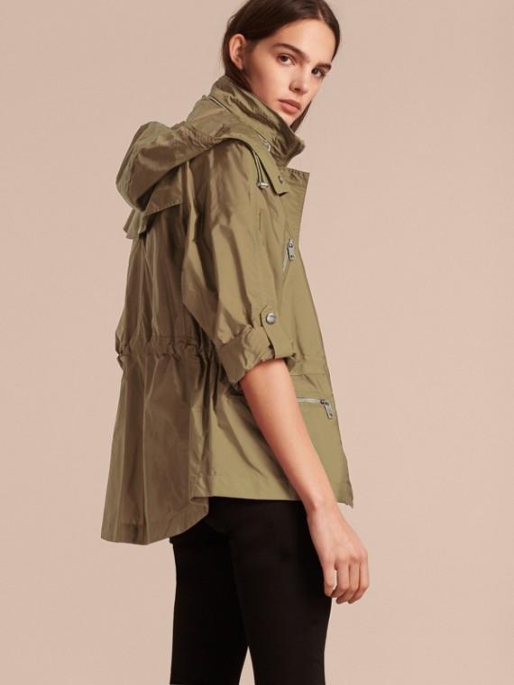 Showerproof Parka Jacket with Packaway Hood Sisal - cell image 2