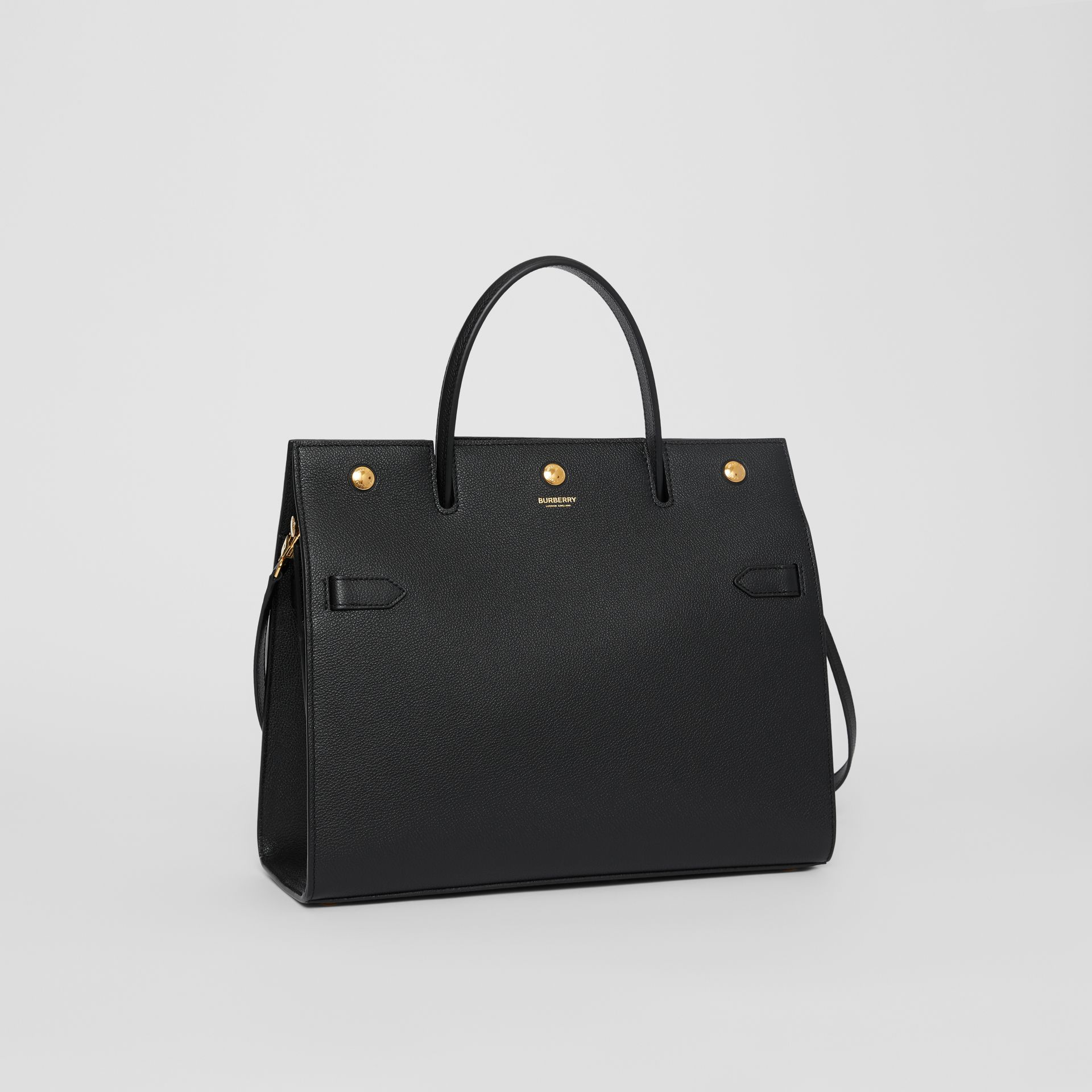 Medium Leather Title Bag in Black - Women | Burberry Singapore - gallery image 6