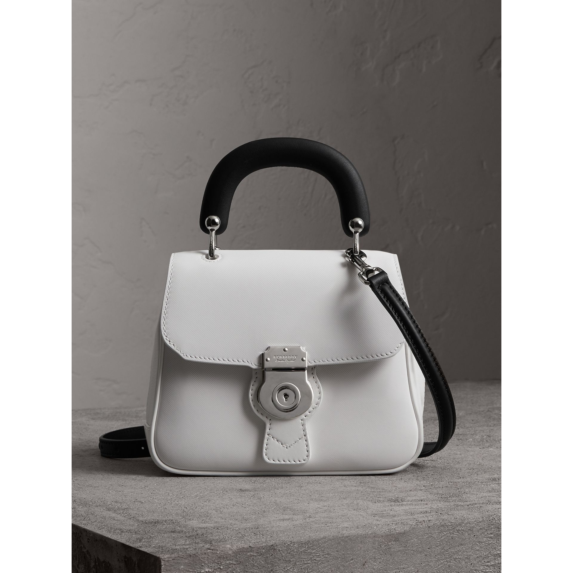 The Small DK88 Top Handle Bag in Chalk White - Women | Burberry Singapore - gallery image 0