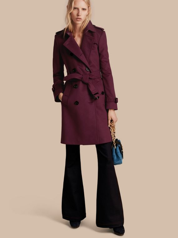 Trench coat in lana e cashmere