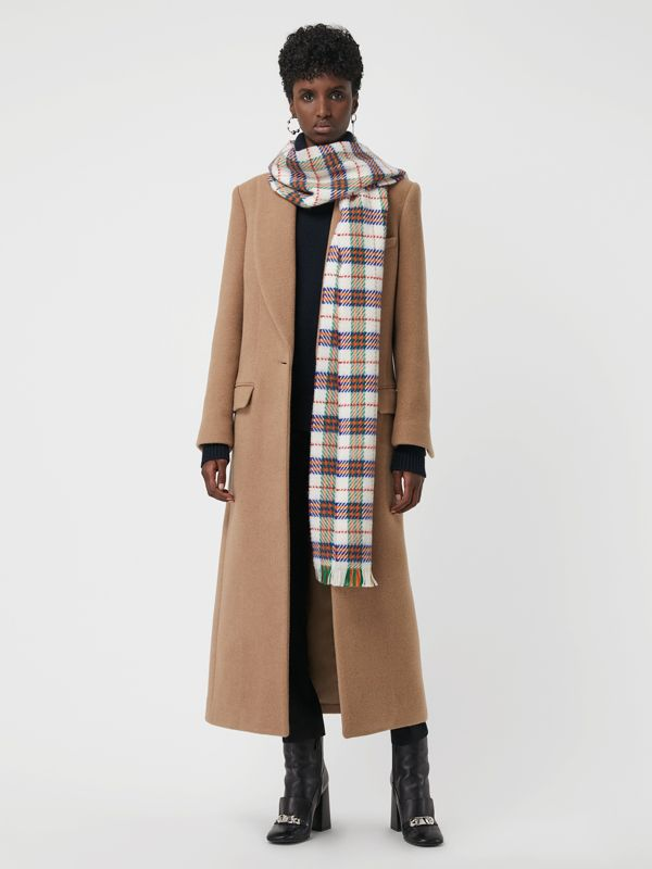 Bufanda de checks en lana de merino (Blanco Natural) | Burberry - cell image 2