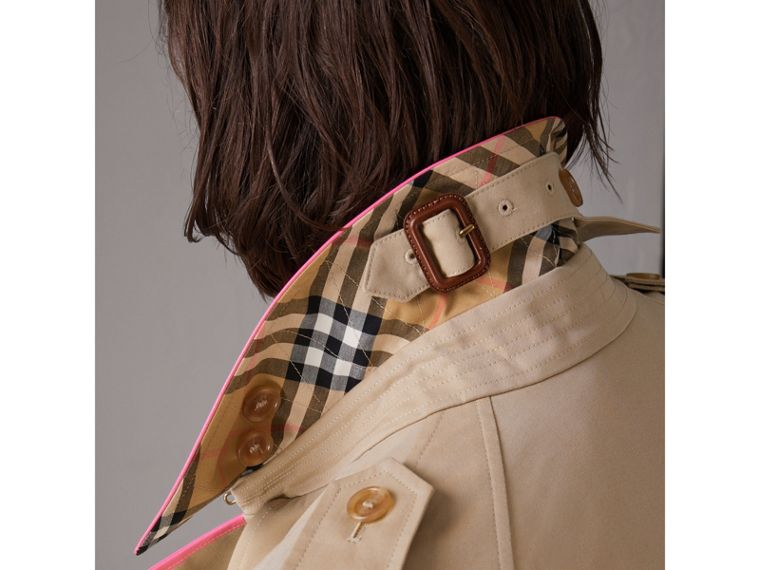 Tape Detail Cotton Gabardine Trench Coat in Honey - Women | Burberry United Kingdom - cell image 4