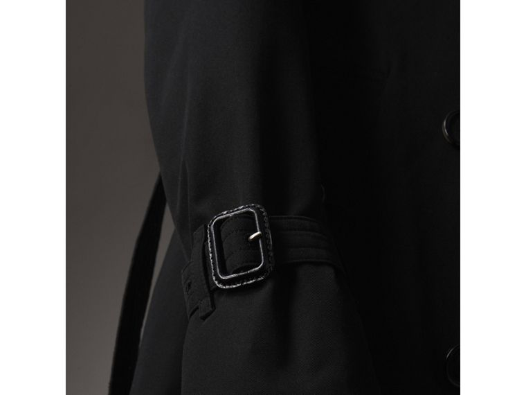 The Kensington – Mid-length Trench Coat in Black - Women | Burberry United Kingdom - cell image 4