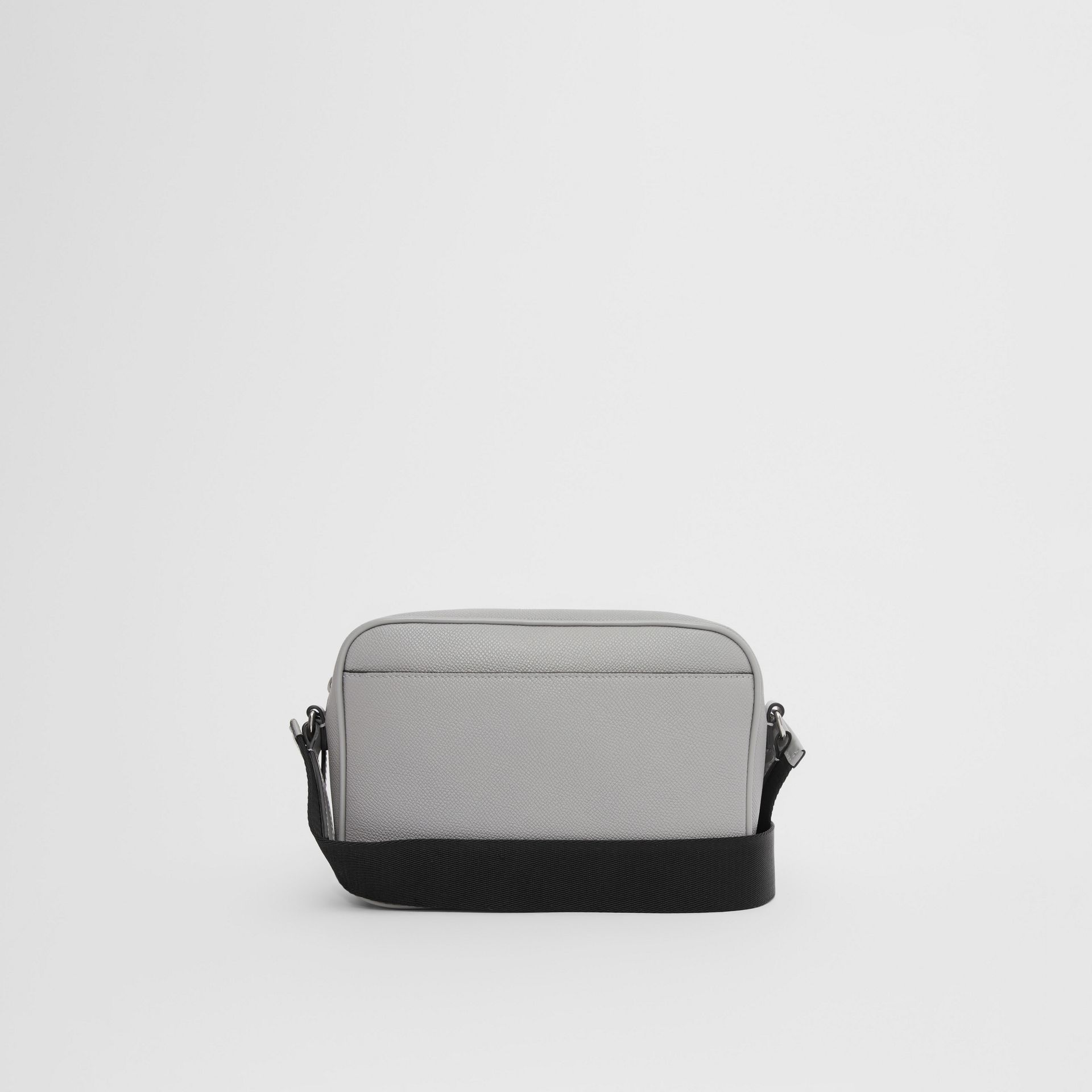 Grainy Leather Crossbody Bag in Cloud Grey | Burberry United Kingdom - gallery image 7