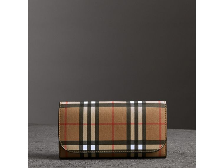 Vintage Check Continental Wallet and Pouch in Black - Women | Burberry - cell image 4