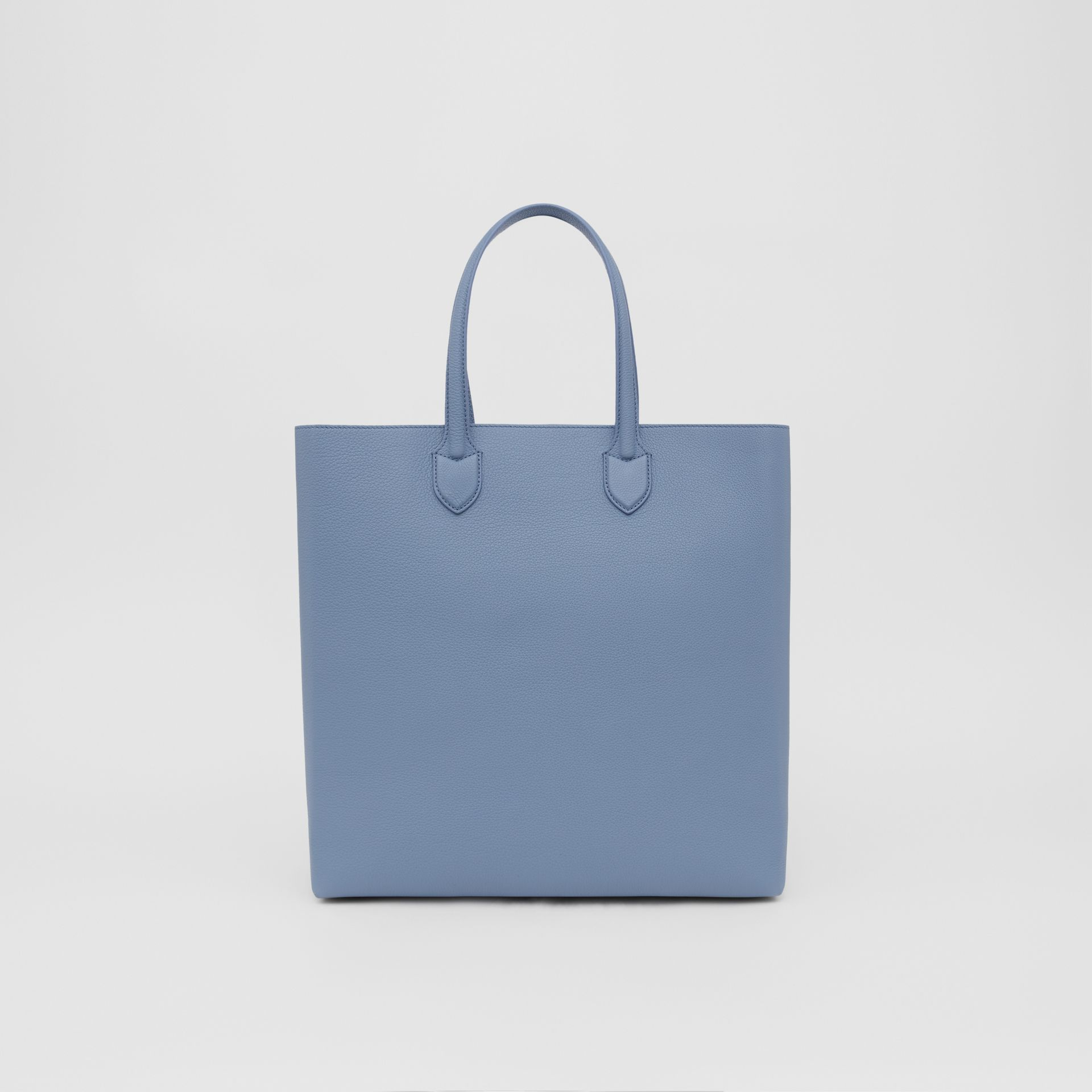 Large Logo Graphic Grainy Leather Tote in Baby Blue - Men | Burberry - gallery image 9
