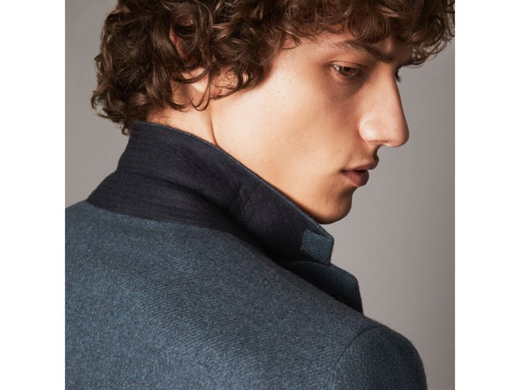 Soho Fit Shetland Wool Tailored Jacket in Dark Airforce Blue - Men | Burberry - cell image 1