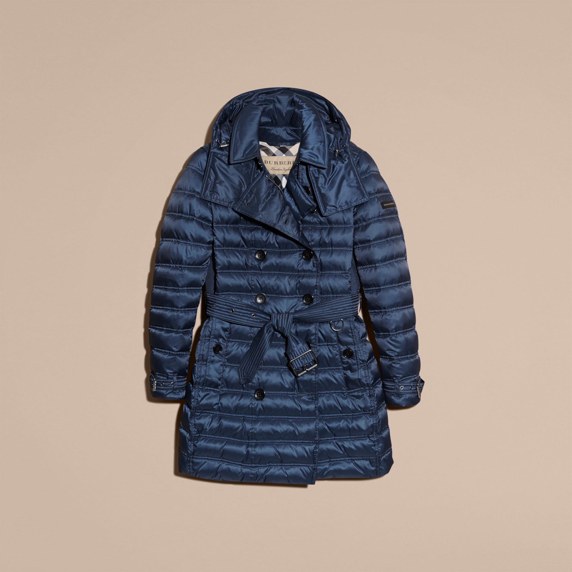 Down-filled Puffer Coat in Bright Navy - gallery image 4