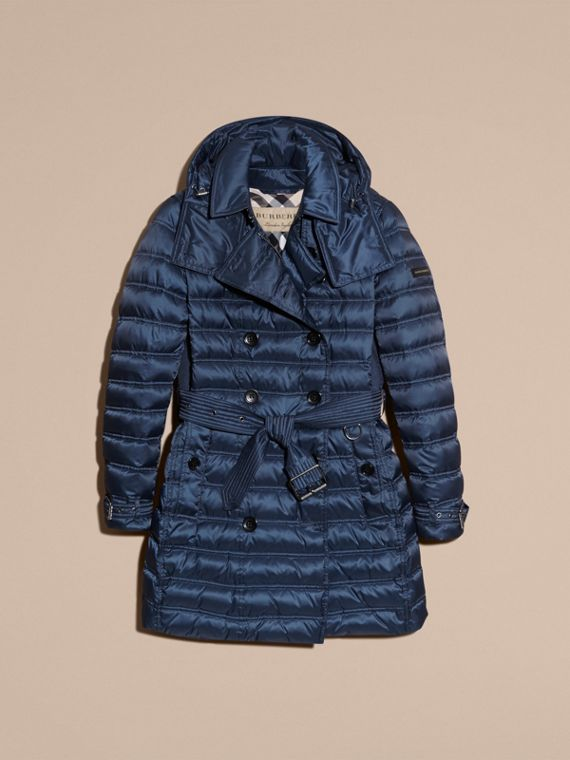Bright navy Down-filled Puffer Coat Bright Navy - cell image 3