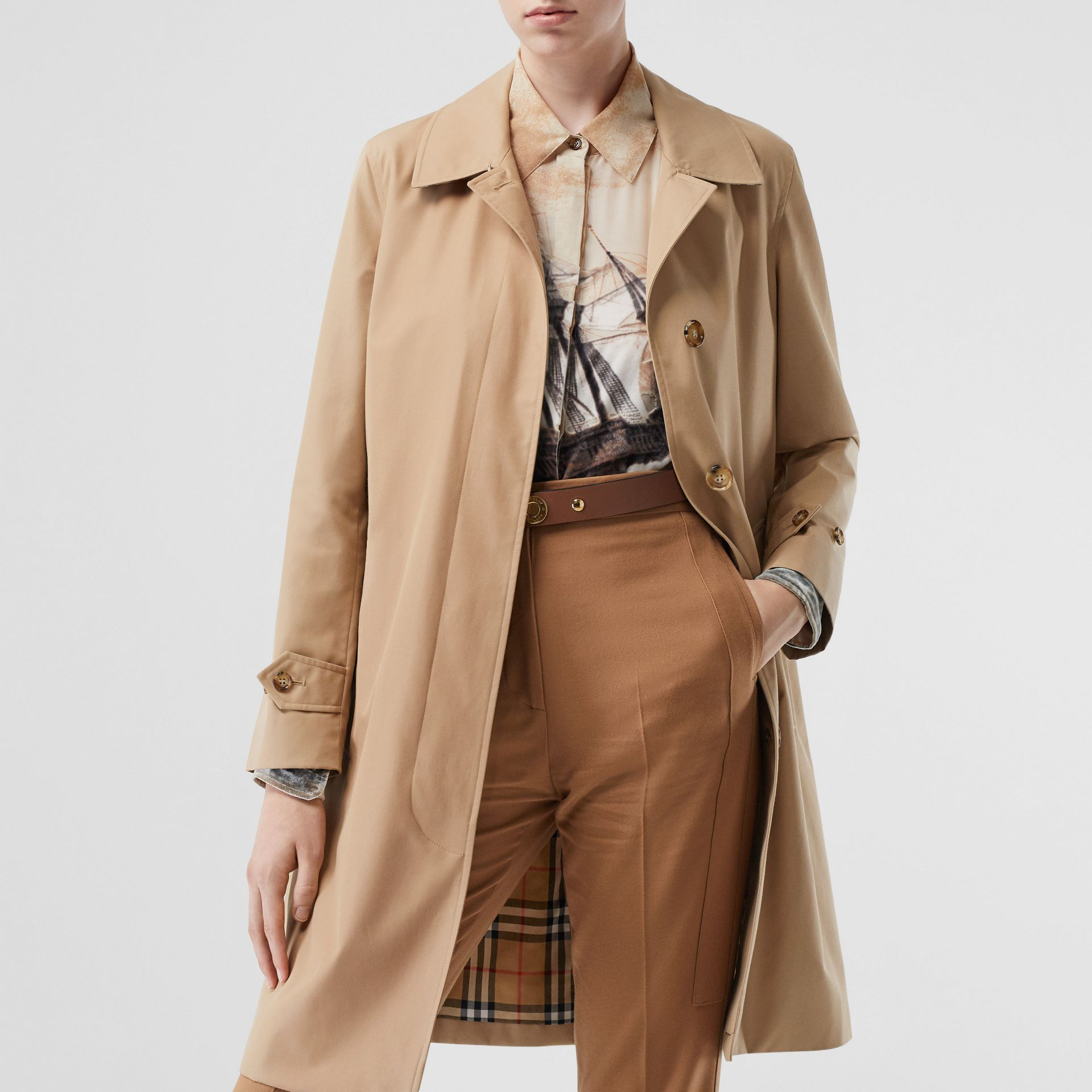 The Pimlico Car Coat in Biscuit - Women | Burberry - gallery image 7