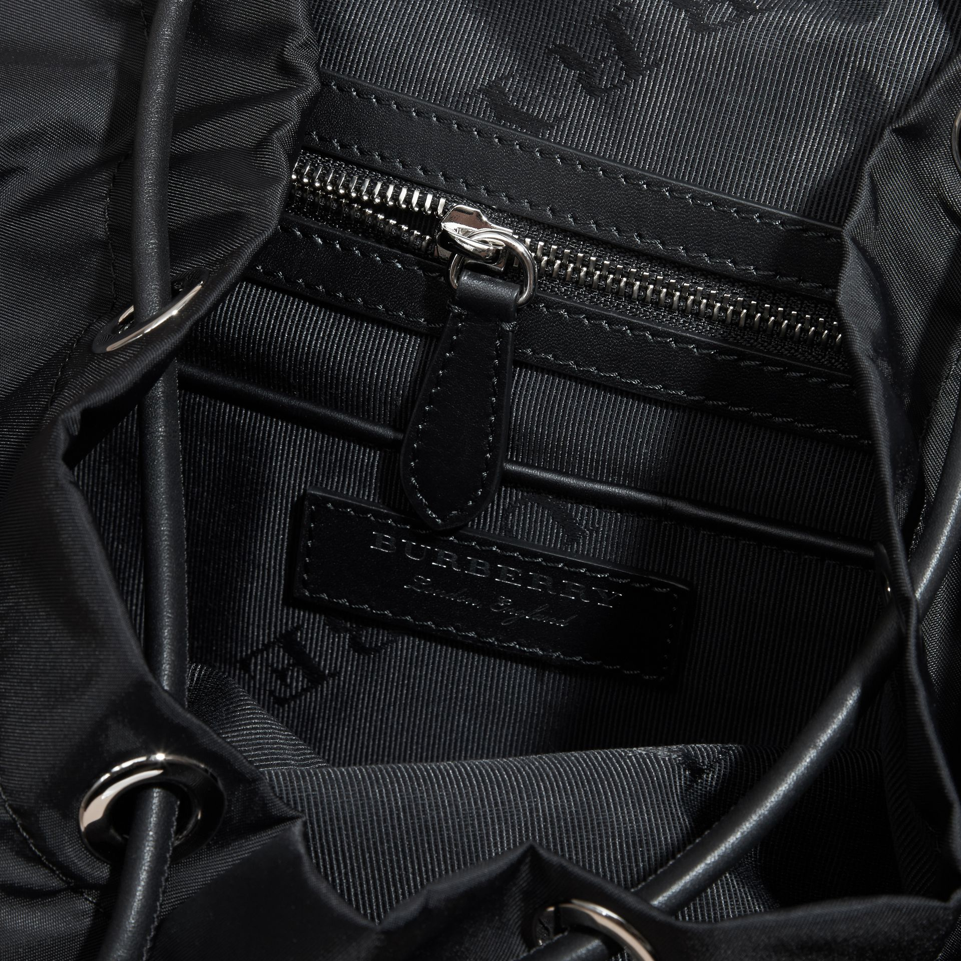 The Medium Rucksack in Nylon and Leather - gallery image 6