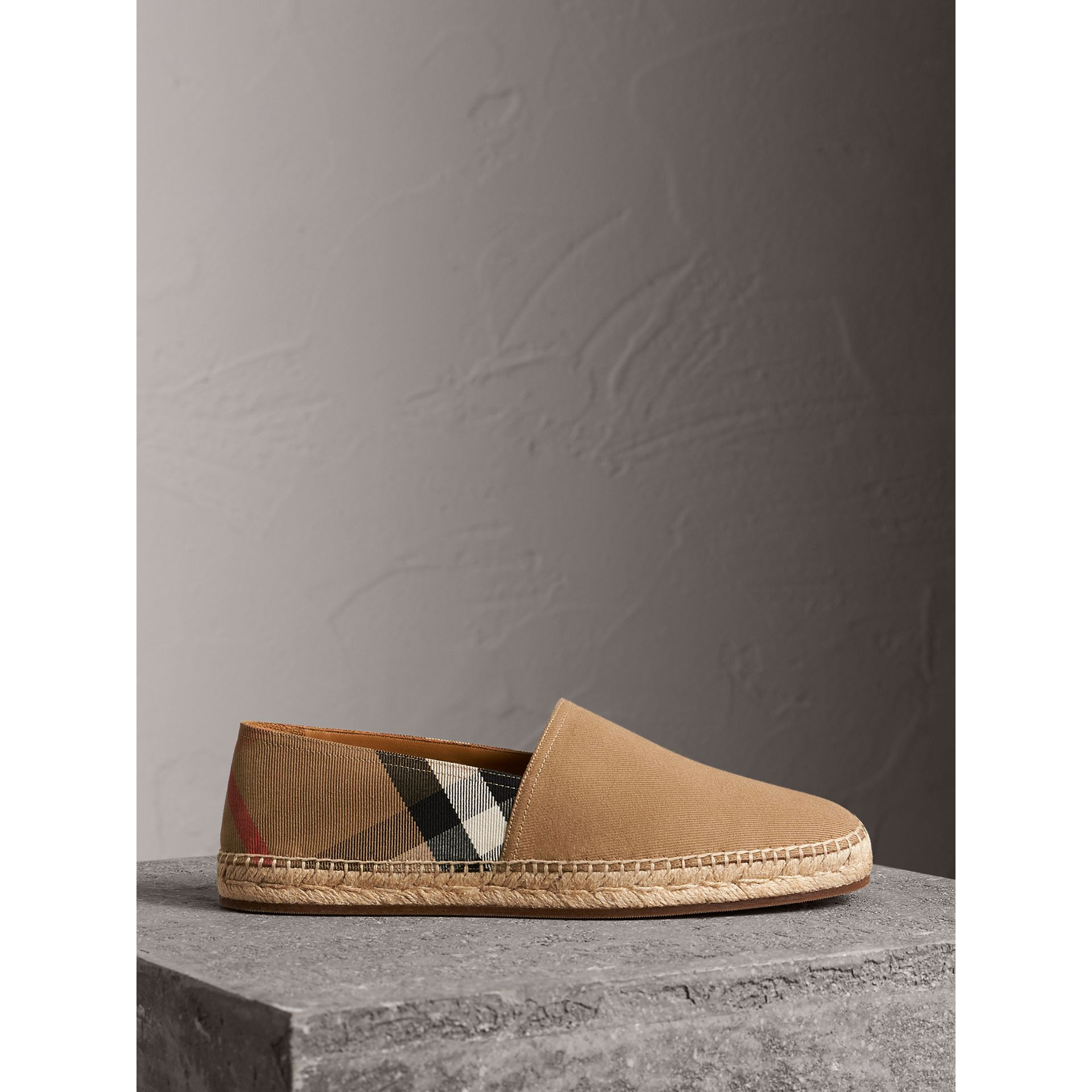 Canvas Check Espadrilles in Classic - Men | Burberry - gallery image 5