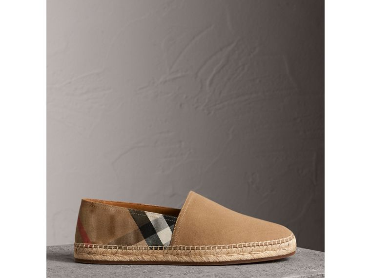 Canvas Check Espadrilles in Classic - Men | Burberry Singapore - cell image 4