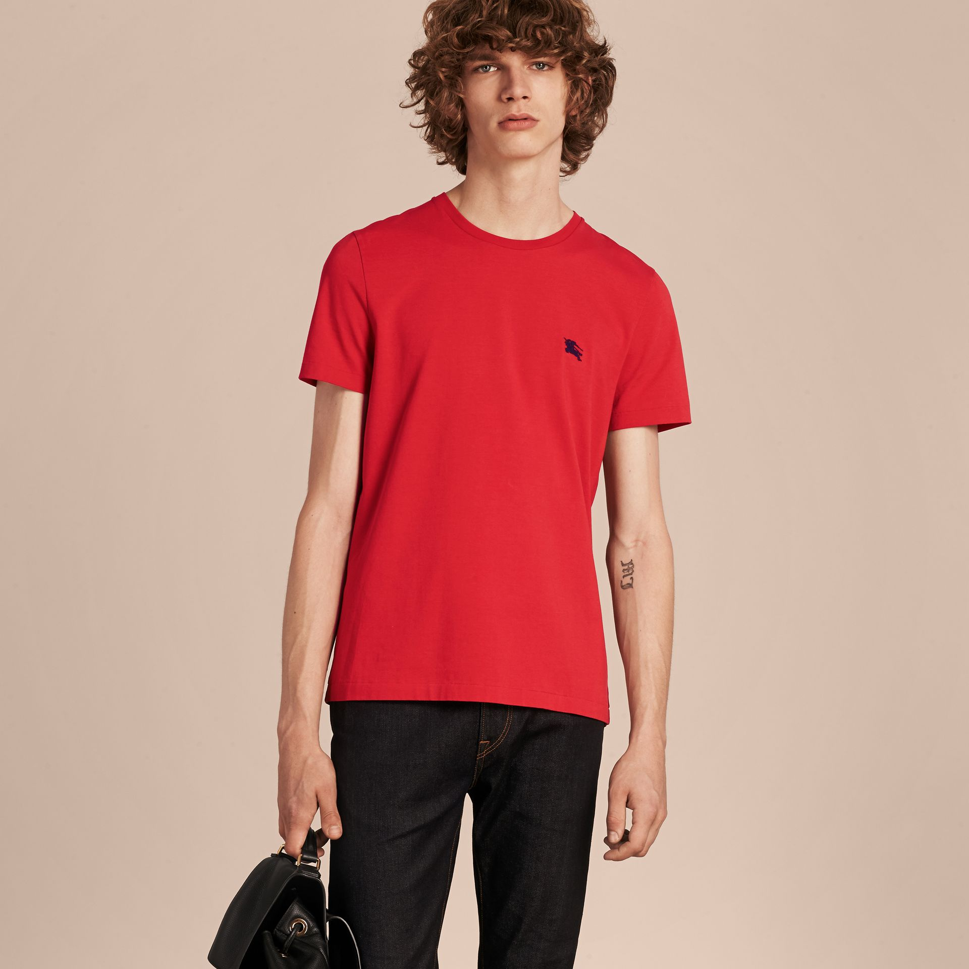 Military red Liquid-soft Cotton T-Shirt Military Red - gallery image 6