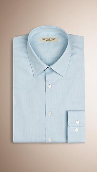 Slim Fit Slub Cotton Shirt