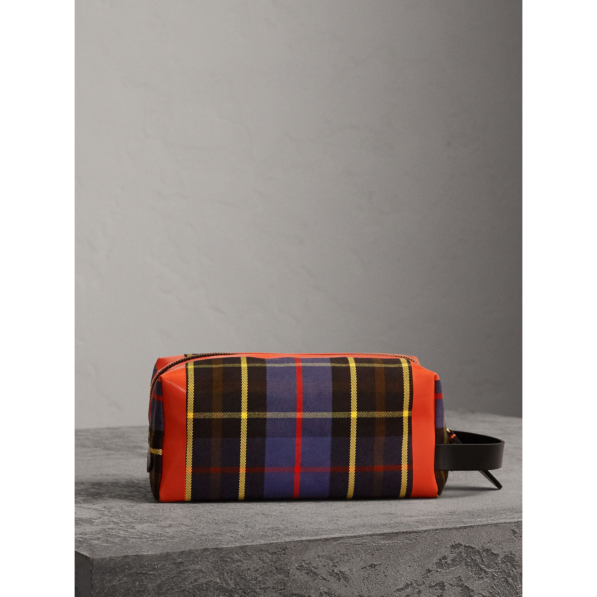 Tartan Cotton Pouch in Cobalt | Burberry - gallery image 6
