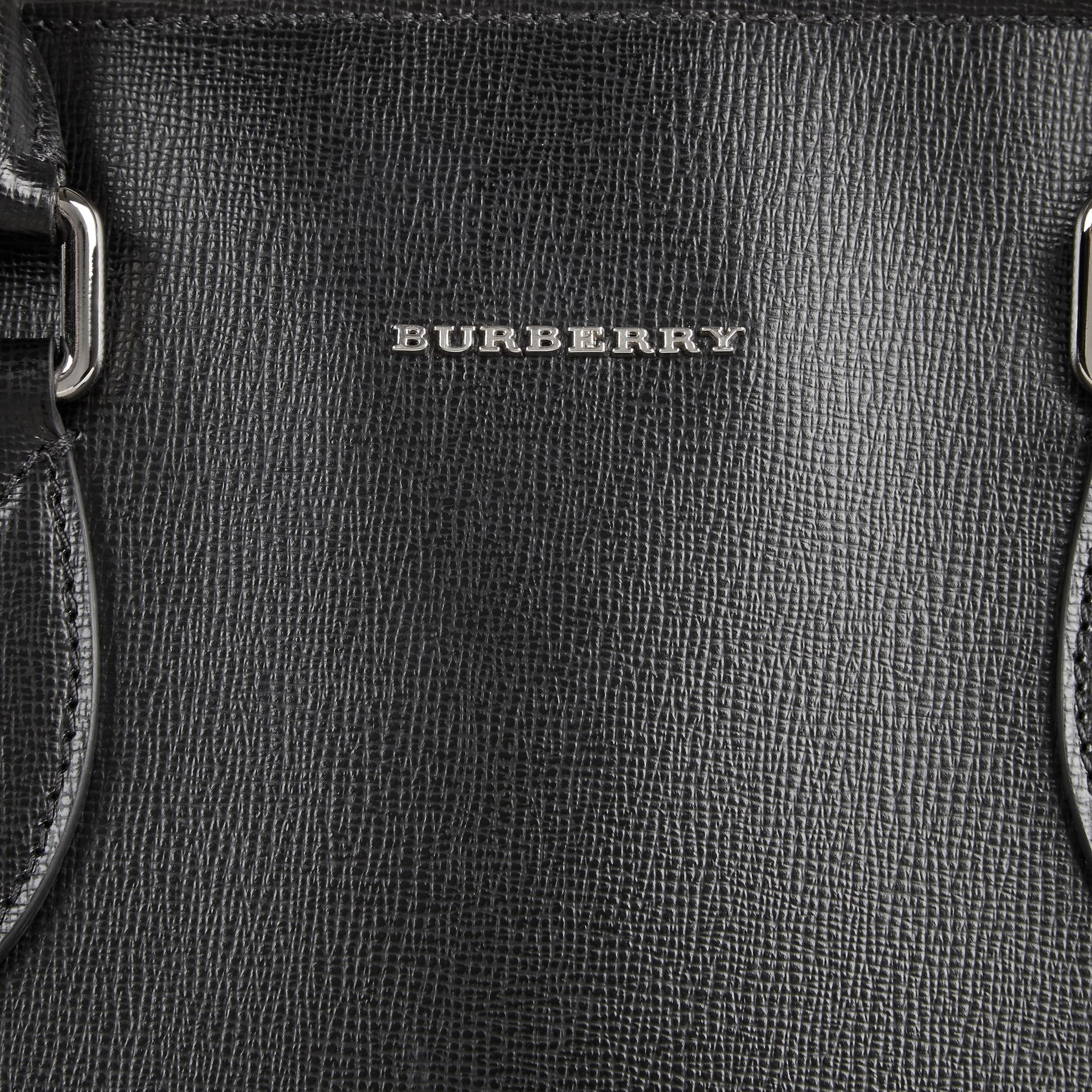 London Leather Tote Bag in Black - Men | Burberry - gallery image 2