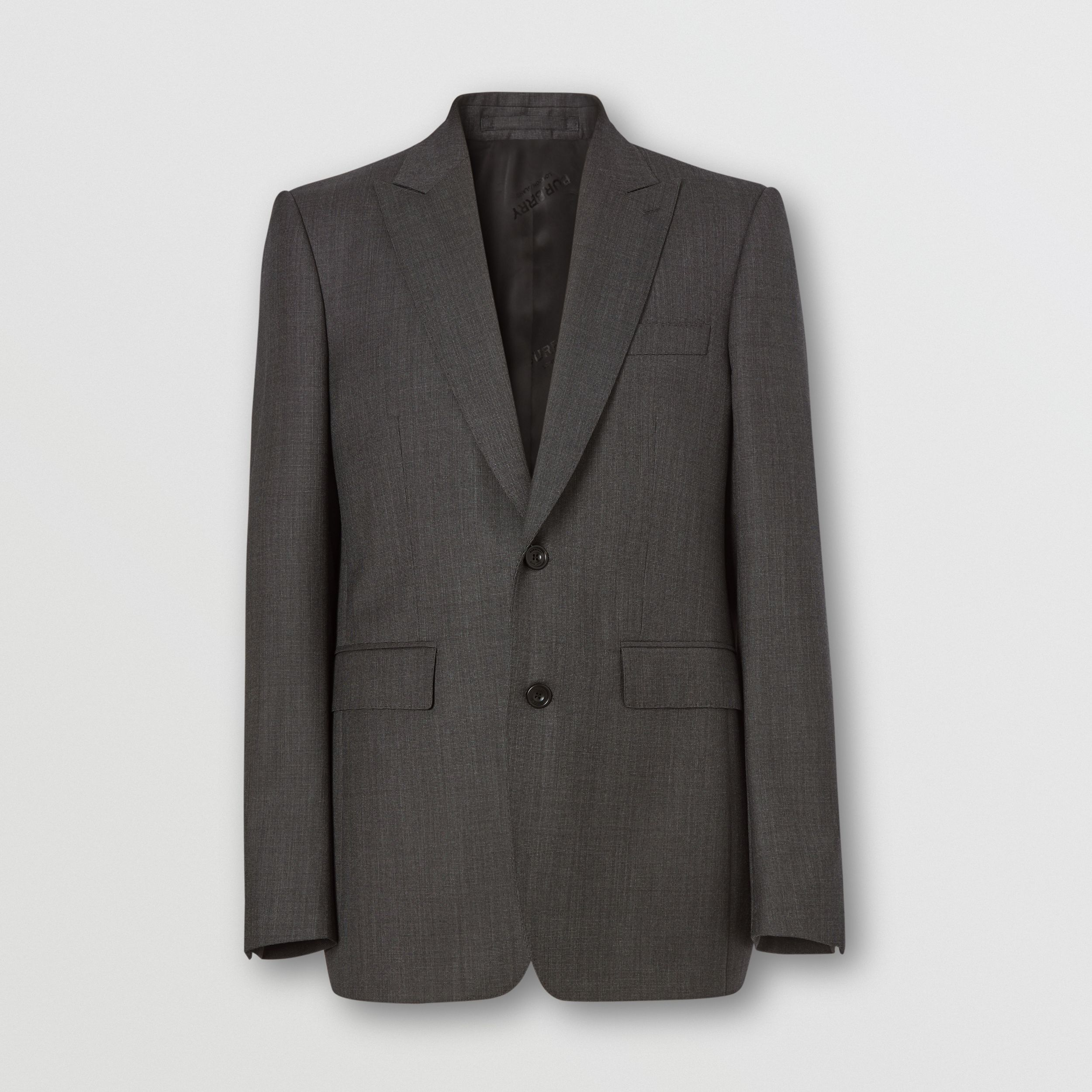 Classic Fit Broken Wool Twill Suit in Mid Grey - Men | Burberry - 4