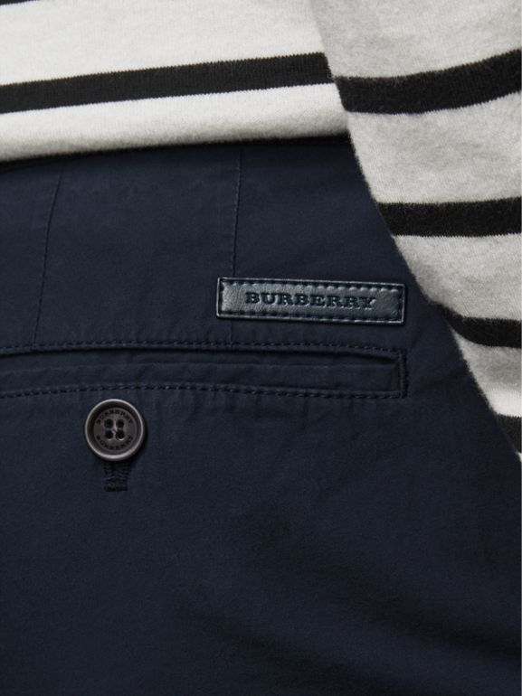 Cotton Poplin Chino Shorts in Indigo - Men | Burberry Australia - cell image 1