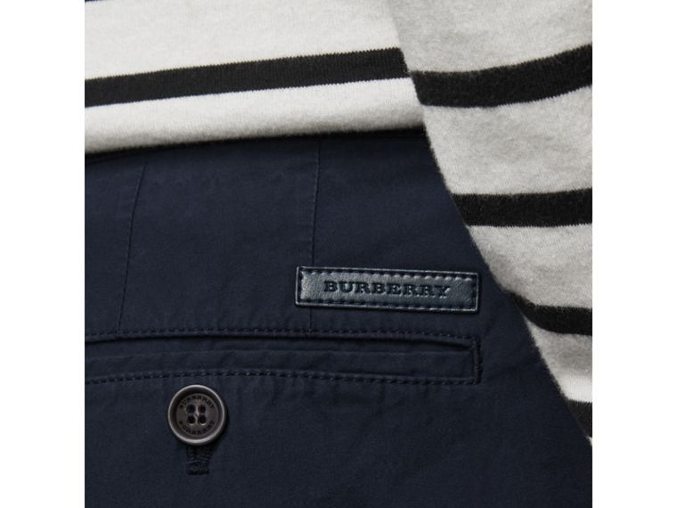 Cotton Poplin Chino Shorts in Indigo - Men | Burberry - cell image 1