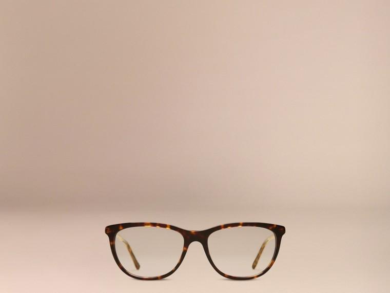Monture œil de chat pour lunettes de vue – Collection Gabardine Écaille  Tortue - cell image 1