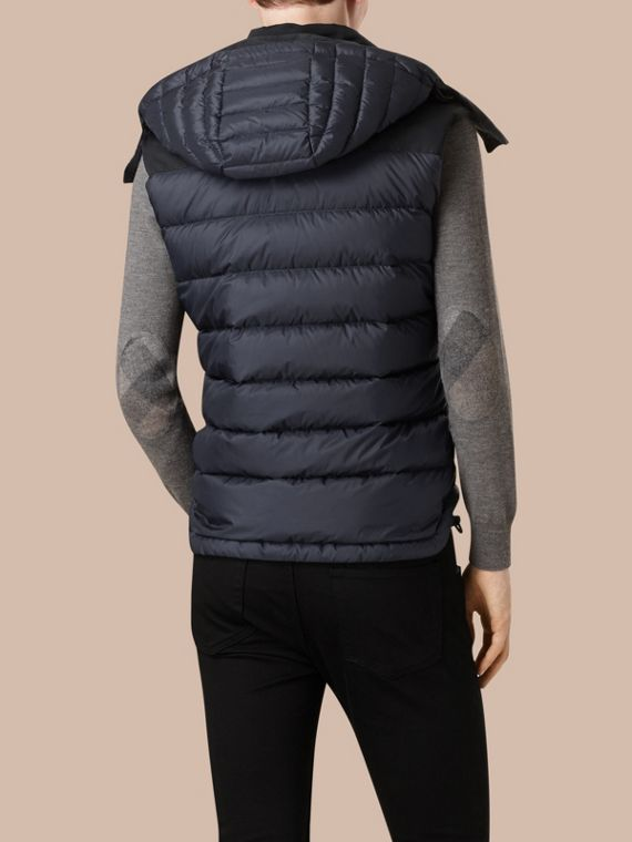 Navy Down-filled Technical Gilet with Detachable Hood Navy - cell image 2