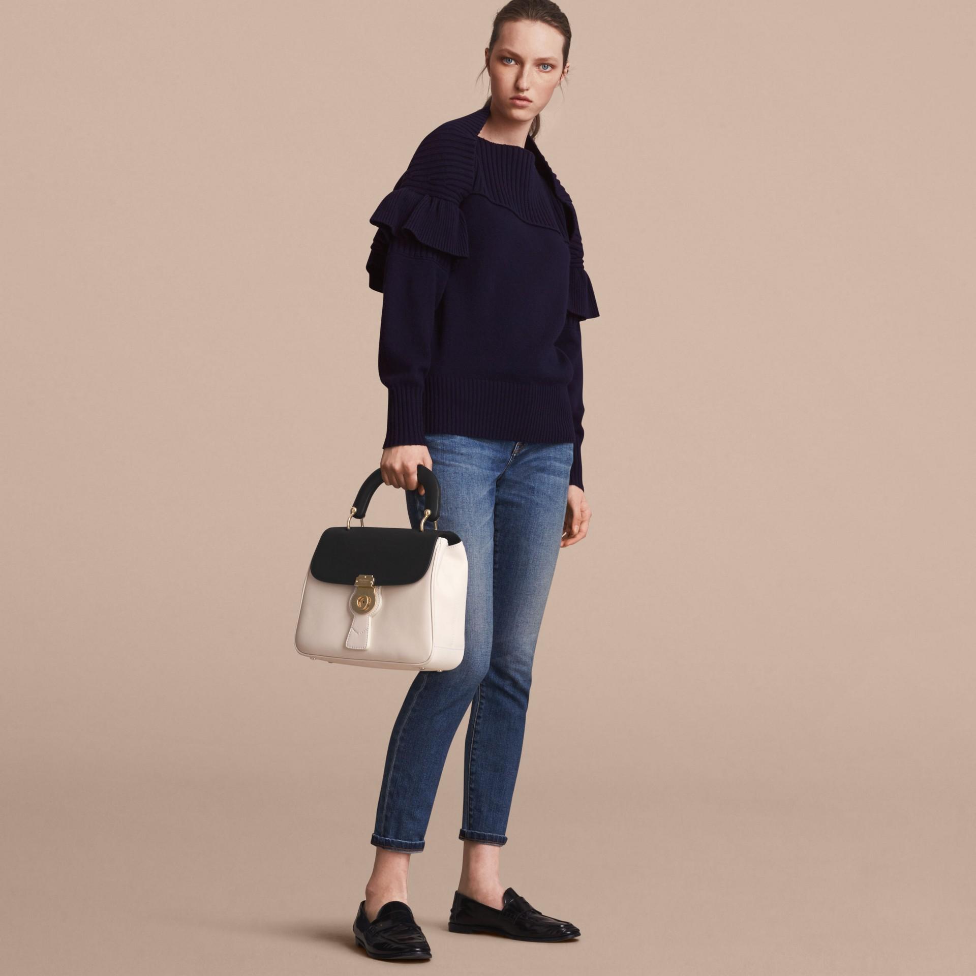 The Medium DK88 Top Handle Bag in Natural/black - gallery image 6