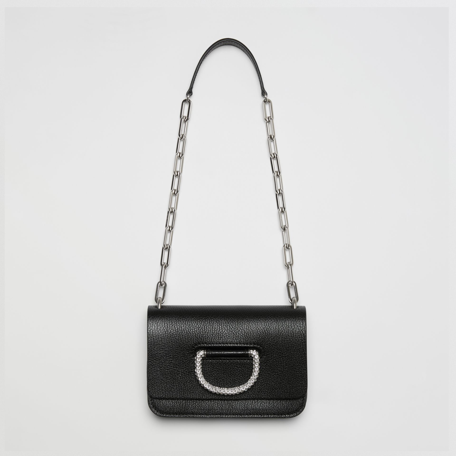 The Mini Leather Crystal D-ring Bag in Black - Women | Burberry Australia - gallery image 2