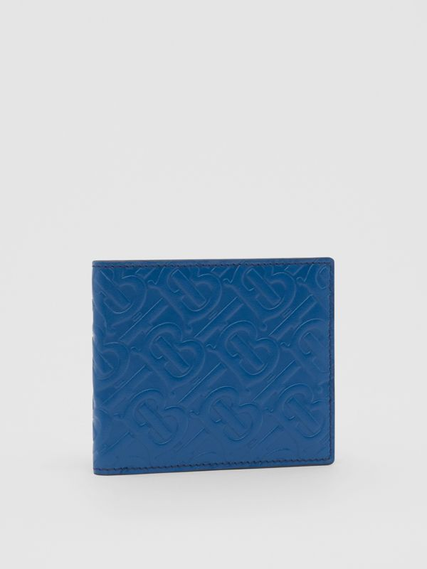 Monogram Leather International Bifold Wallet in Pale Canvas Blue - Men   Burberry - cell image 3