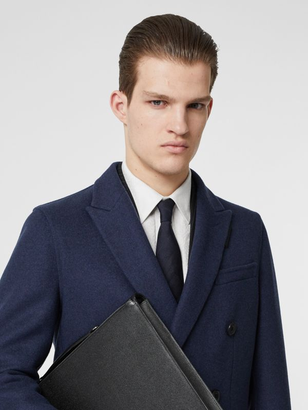 Classic Cut Check Silk Jacquard Tie in Navy - Men | Burberry United Kingdom - cell image 2