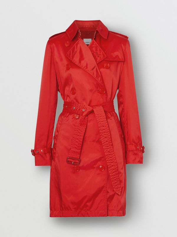 Detachable Hood ECONYL® Trench Coat in Bright Red - Women | Burberry United Kingdom - cell image 3